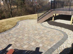 Beautiful stone patio Creative Scapes